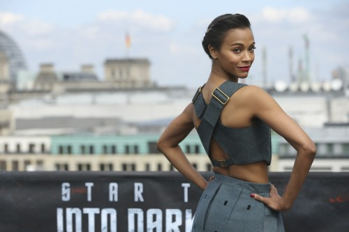 Zoe-Saldana-Star-Trek-Into-Darkness-Berlin-Photocall-Calvin-Klein-Collection-Dress-Jimmy-Choo-Taba-Perforated-Suede-Sandals-5-500x333