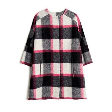 KirnaZabete-MSGM-Plaid-Three-quarter-Sleeve-Coat-31
